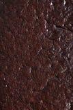 Fotografia macro do close-up da textura do bolo de chocolate Fotos de Stock Royalty Free