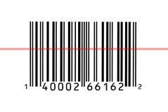 Fotografia a macroistruzione di un codice a barre Fotografie Stock