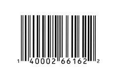 Fotografia a macroistruzione di un codice a barre Immagine Stock Libera da Diritti