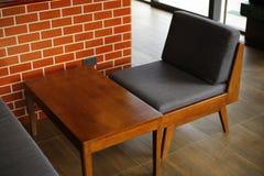 Fotografia moderna della sedia e della tavola Fotografie Stock Libere da Diritti