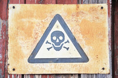 Fotografia niebezpieczeństwo symbol fotografia stock
