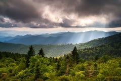 Fotografia norte da paisagem de Carolina Blue Ridge Parkway Scenic foto de stock