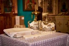 Fotografia od ślubu w kościół Obraz Royalty Free