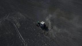 Fotografia od trutnia ciągnika loch Zdjęcie Stock