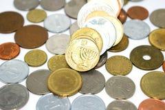 Fotografia ogromna liczba monety różni stany Zdjęcia Royalty Free