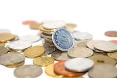 Fotografia ogromna liczba monety różni stany Obrazy Royalty Free