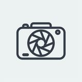 fotografia płaski projekt, fotografa projekt, krótkopęd kamery projekt, obiektywu projekt Fotografia Royalty Free