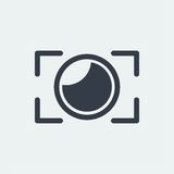 fotografia płaski projekt, fotografa projekt, krótkopęd kamery projekt, obiektywu projekt Obraz Stock
