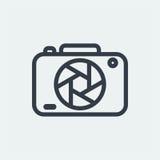 fotografia płaski projekt, fotografa projekt, krótkopęd kamery projekt, obiektywu projekt Fotografia Stock