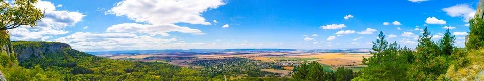 Fotografia panoramica della riserva archeologica storica nazionale di Madara fotografie stock libere da diritti