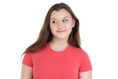 Fotografia patrzeje dobro nastoletnia dziewczyna Obrazy Stock