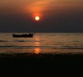 Fotografia perfeita do fundo do por do sol Imagem de Stock