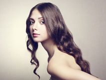 Fotografia piękna młoda kobieta. Rocznika styl Fotografia Stock