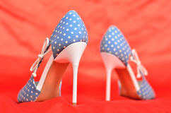 Fotografia piękny i delikatny kobieta butów zbliżenie Zdjęcie Royalty Free