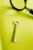 Klucz pomyślna inwestycja - staranny bilans księgowy Obraz Royalty Free