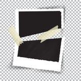 Fotografia quebrada no fundo quadriculado, ilustração do vetor ilustração stock