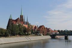 Fotografia retro do vintage da cidade de Wroclaw Fotos de Stock Royalty Free