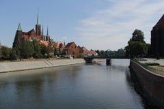 Fotografia retro do vintage da cidade de Wroclaw Foto de Stock Royalty Free