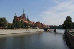 Fotografia retro do vintage da cidade de Wroclaw Foto de Stock