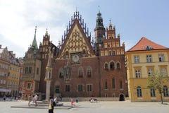 Fotografia retro do vintage da cidade de Wroclaw Imagens de Stock