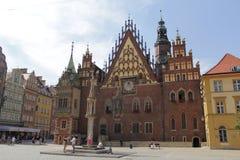 Fotografia retro do vintage da cidade de Wroclaw Fotografia de Stock Royalty Free