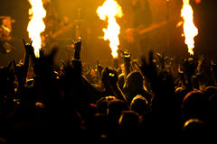 Fotografia rockowy koncert obraz stock