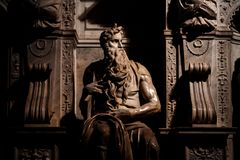 Fotografia rzeźba Mojżesz zdjęcie stock