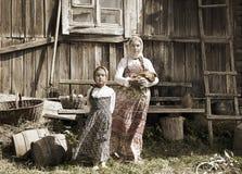 Fotografia siostry w gospodarstwie rolnym Zdjęcia Royalty Free
