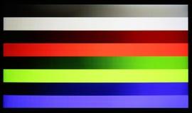 Fotografia strzał standardowy przemysłowy kolorów horyzontalnych barów testa klepnięcie zdjęcie stock