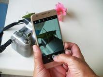 Fotografia sul telefono immagine stock