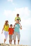 Rodzina na wakacje obraz stock