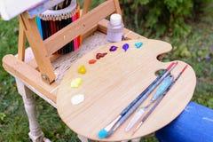 Fotografia tematy lokalizować w parku outdoors artysty rysunek obrazy royalty free