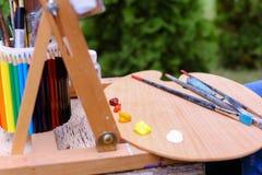 Fotografia tematy lokalizować w parku outdoors artysty rysunek zdjęcie stock
