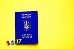 Fotografia ukraiński paszport 2017, zdjęcie royalty free