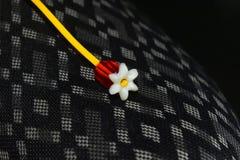 Fotografia unica dell'oggetto del pezzo forte di forma del fiore artificiale Immagini Stock