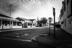 Fotografia urbana preto e branco imagem de stock royalty free