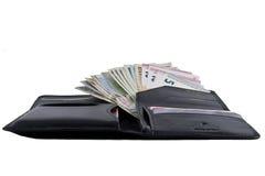 Fotografia ustawiająca dla podróżnika: kiesa, kredytowe karty, paszporty i Zdjęcie Stock