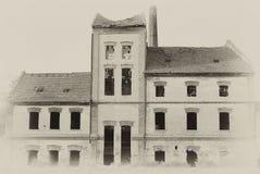Fotografia velha do vintage da fábrica Imagens de Stock