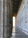 Fotografia Walhalla z złotym światłem w Regensburg, Niemcy zdjęcie stock