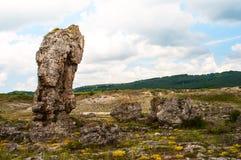 Fotografia wielcy pozycja kamienie w terenie Varna w Bułgaria Zdjęcie Royalty Free