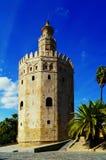 Fotografia wierza złoto w Seville, południowy Hiszpania Zdjęcie Royalty Free