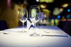Fotografia win szkła na stole Obraz Royalty Free