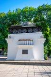 Fotografia zabytek zbiornik w parku w Kamyanets-Podilsky fotografia royalty free