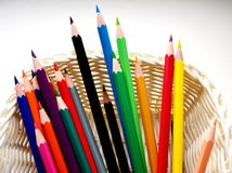 Fotografia zakończenie ołówki obrazy stock