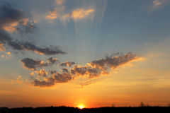 Fotografia zmierzchu niebo Obrazy Royalty Free