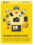 Fotografiaffisch stock illustrationer