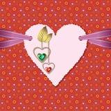 Fotograficznego papieru serce, diamenty i faborek, Zdjęcia Stock