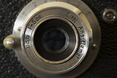 Fotograficznej kamery obiektywu zakończenie up zdjęcie stock