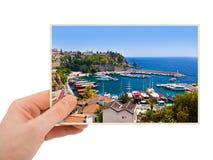 Fotografie Antalyas die Türkei in der Hand stockbild