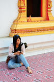Fotografie bei Wat Ras Prakorngthum Lizenzfreies Stockfoto
